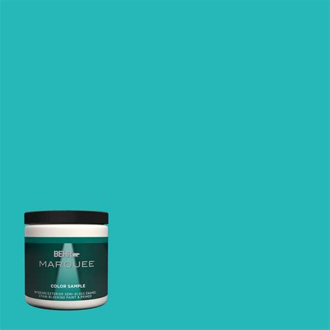 turquoise paint colors home depot behr marquee 8 oz mq4 21 caicos turquoise one coat hide