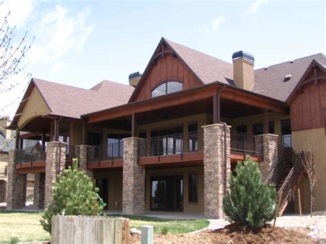 house plans with walk out basements mountain house plans with walkout basement mountain ranch house plans mountain lake house plans