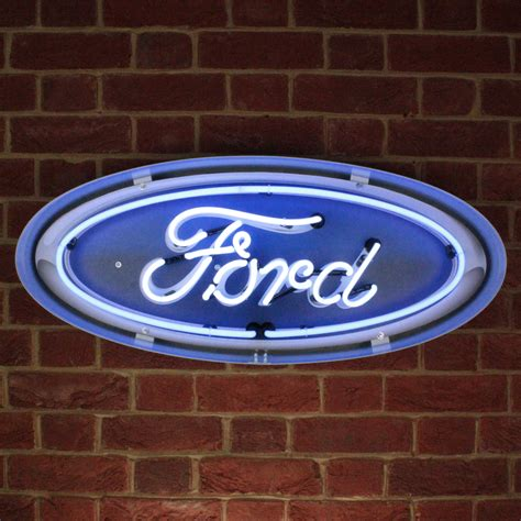 Ford Sign by Ford Oval Neon Sign In The Can Icon Neon