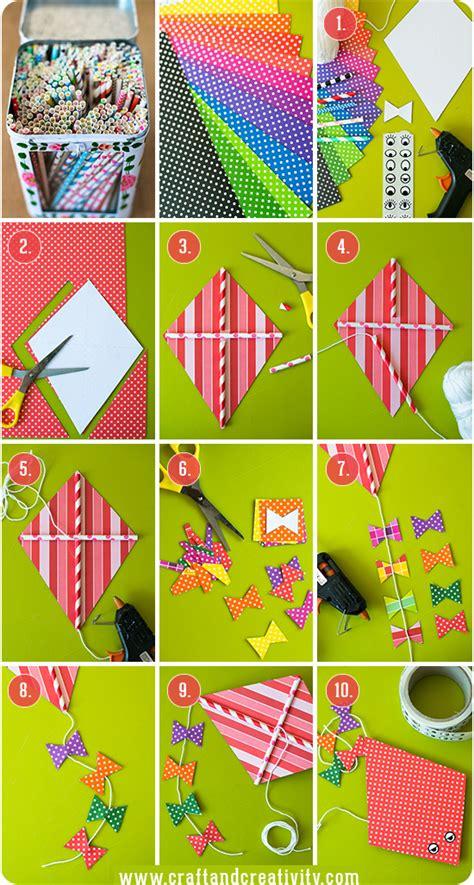kite paper craft hur g 246 r en pappersdrake how to make a paper kite