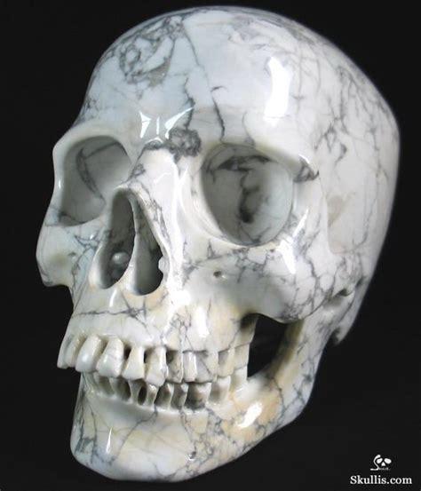 howlite skull lifesized 8 0 quot howlite carved skull