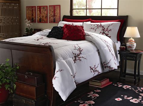 cherry comforter set asian cherry blossom bedding set white comforter