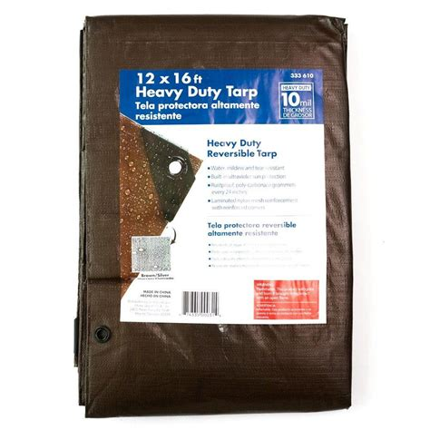 home depot paint tarp 12 ft x 16 ft heavy duty tarp hd1216 the home depot