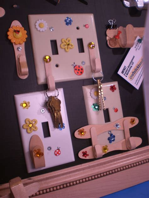craft projects with craft stick light switch hooks craft stick crafts