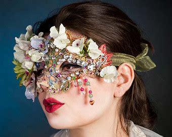 flower mask flower masquerade mask gemstones venetian mask