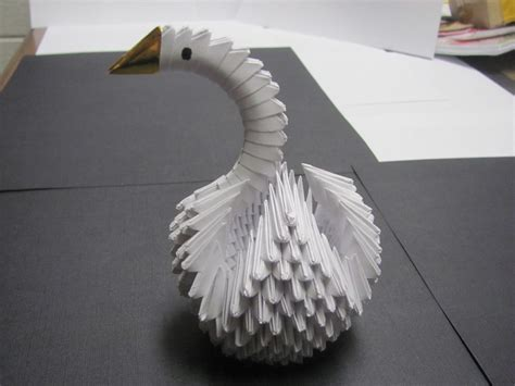 how to make a origami swan 3d 3d origami swan by windrapier on deviantart