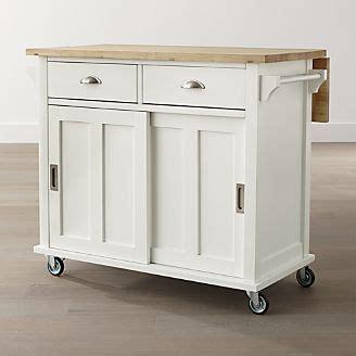 belmont white kitchen island kitchen islands carts crate and barrel