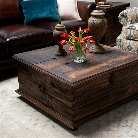 trunk coffee table rustic trunk coffee table for your living room