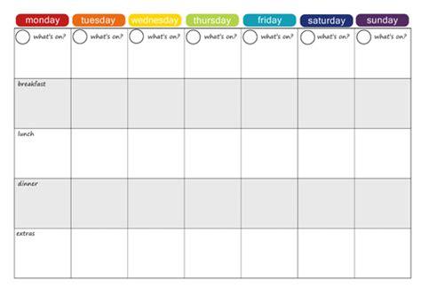 printable monthly menu planner new calendar template site