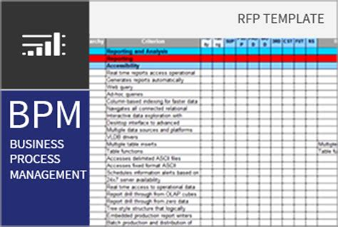 business process management bpm rfi rfp template bpi