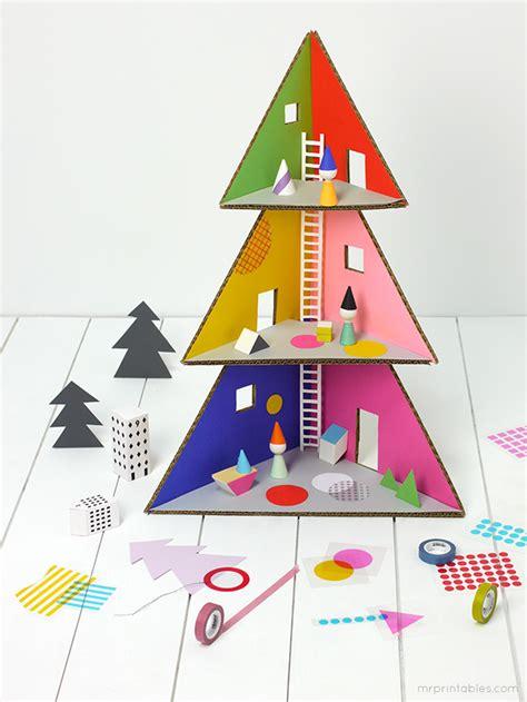 christmas tree doll house mr printables