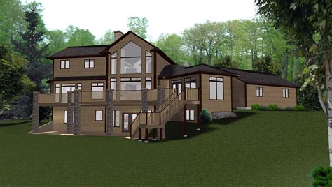house plans with finished walkout basements walkout basements plans by edesignsplans ca 8