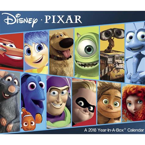2018 disney pixar wall calendar day disney pixar 2018 desk calendar 9781682098745