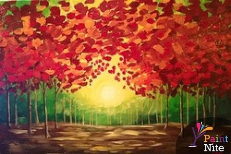 paint nite coupon island paint nite fall sunset
