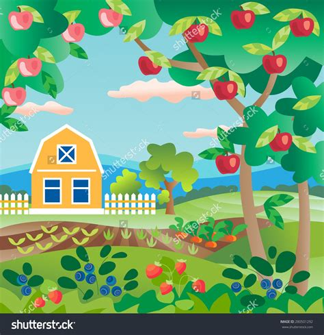 garden fruits and vegetables vegetable tree clipart clipartsgram