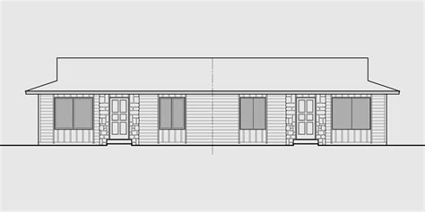 house plans one level ranch style duplex design house plan single level floor plan