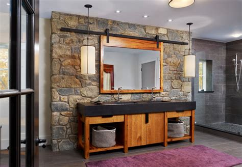 Rustic Spa Bathroom by Files Rustic Spa Bathroom
