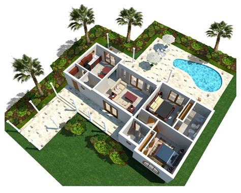 luxury home plans with pools architecture 3d modern luxury home plan with curve