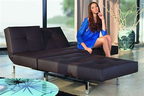 Elegant Asymmetrical Split Leather Couch With Best High Quality Component In Black Tones For