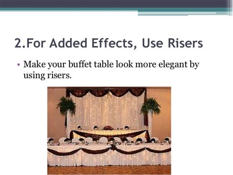 buffet table risers 5 wedding buffet table setting ideas that work