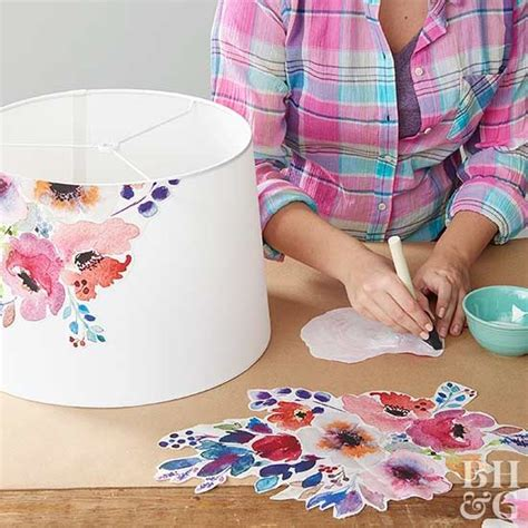 decoupage lshade with fabric best 20 decoupage ideas on