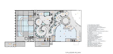 aquarium floor plan gallery of antalya aquarium bahadir kul architects 20