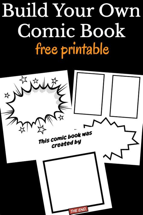 make a picture book free cool comic book templates for