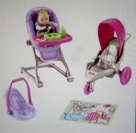 baby doll high chair and crib fisher price loving family nursery baby doll dollhouse