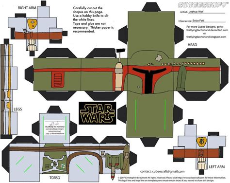 paper craft wars bobba fett wars papercraft wars