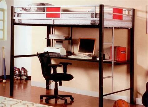 size bunk bed with desk underneath metal bunk bed with desk underneath metal loft bed with