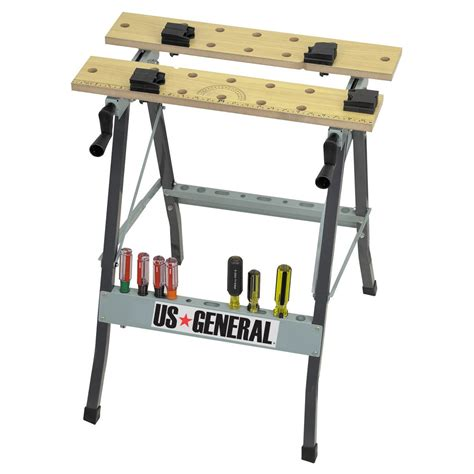 folding woodworking bench folding cling workbench with movable pegs