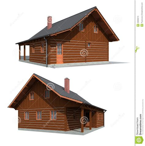 4 Bedroom Cabin Plans timber wood house stock images image 23806074