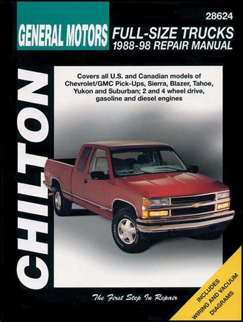 1988 1998 all makes all models parts l775 haynes manual 88 98 truck classic industries 1988 1998 all makes all models parts l994 1988 98 pickup chilton manual classic industries