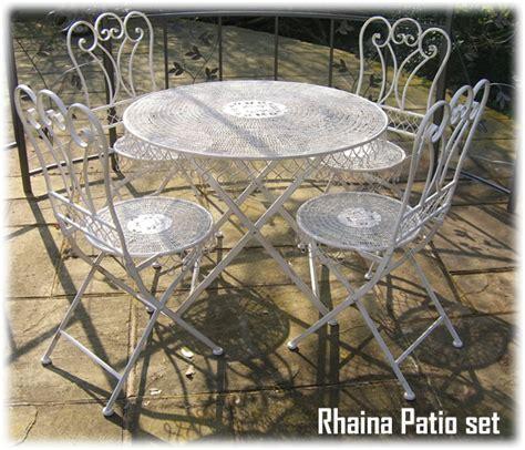 shabby chic outdoor furniture wrought iron shabby chic garden patio furniture set rh1