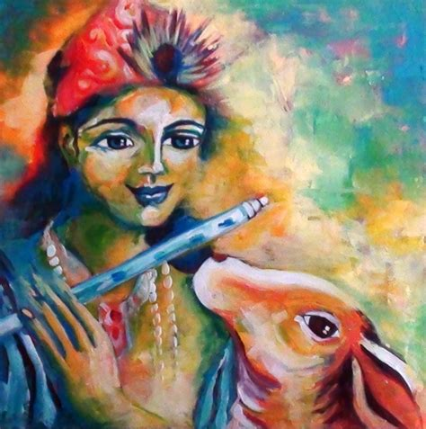 acrylic paint effects on canvas painting effect using acrylic paints krishna and holy