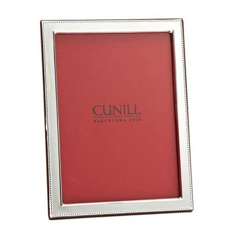 beaded picture frames cunill beaded border sterling silver picture frame