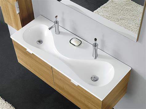 Qualitäts Badezimmermöbel by Badm 246 Bel Doppel Waschbecken Waschtisch Spiegel Berlin