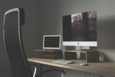 computer stand for desk deskcandy wooden computer stands for laptops and desktops