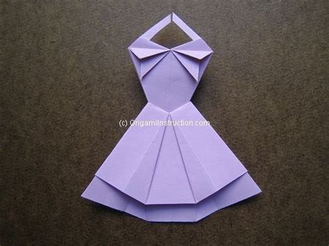easy origami dress origami origami trapeze dress