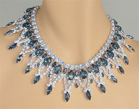 how to make rhinestone jewelry rhinestone bib necklace and earrings juliana style