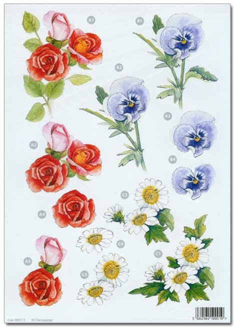 flower decoupage pin flowers decoupage sheet pictures on