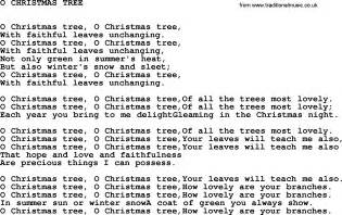 glee rockin around the tree lyrics johnny song o tree lyrics