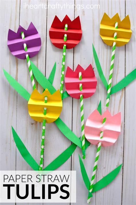 paper straw crafts pretty paper straw tulip craft i crafty things