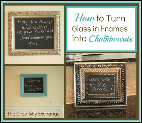 diy chalk paint picture frame how to turn glass in a frame into a chalkboard