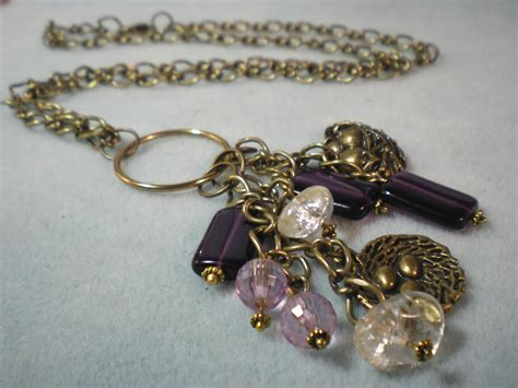 beaded charms charm and bead dangle necklace tutorial
