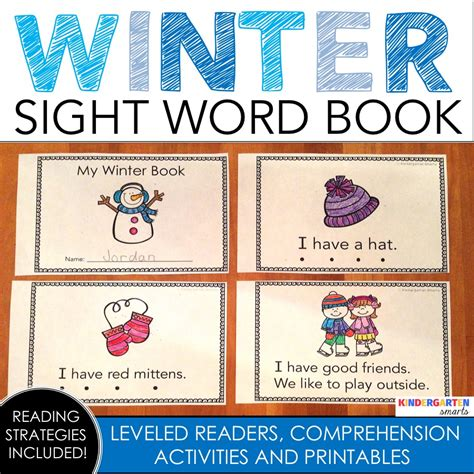 words and pictures book winter sight word book with a freebie kindergarten smarts