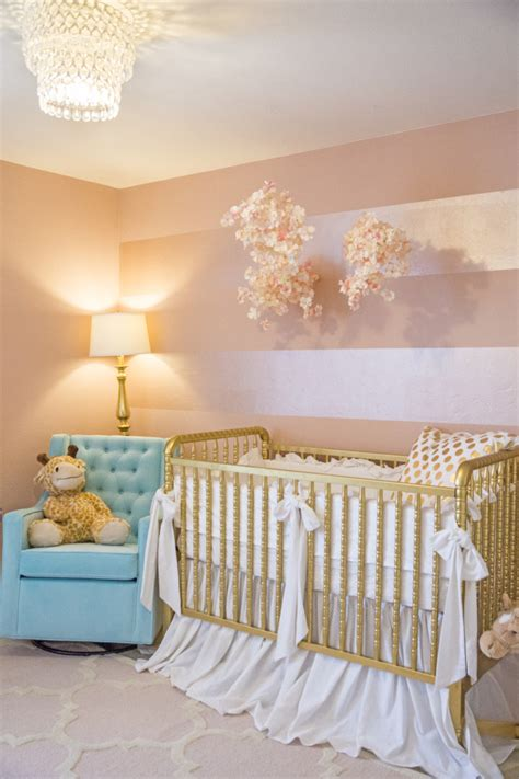 s pink and gold nursery project nursery