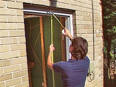 installing exterior door how to install a pre hung exterior door how tos diy