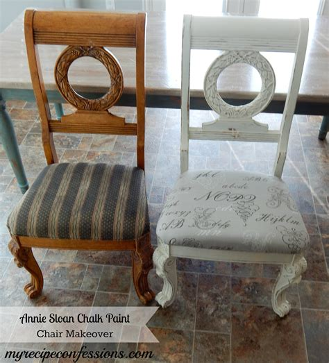 chalk paint chairs chalk paint chair makeover my recipe confessions