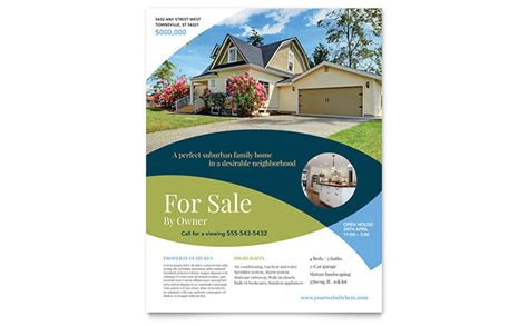 for sale by owner flyer template design